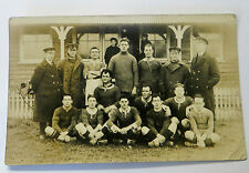 Wonderful WW1 Early Real Photo Postcard Navy Football Team having Photo Taken