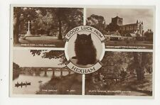 Good Luck From Hexham Vintage RP Postcard 255a