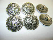 6 silberf. Uniformknöpfe mit kaiserlichem Reichsadler für historische Darsteller