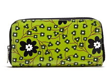 NWT KITSCH'N GLAM FIORI WALLET-CLUTCH - VEGAN-Green-Multi COATED FABRIC - $40