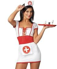 SEXY NAUGHTY NURSE uniforme Abito Taglia 6 - 8 Hen Night COSPLAY infermiera Fancy Dress