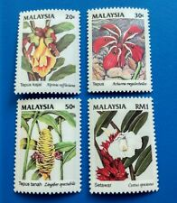 Malaysia 1993 Wild Flower 2nd Series 4v Stamps Mint NH