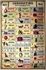 Curiosities english Pronunciation Metal Tin Sign 20 x 30 cm