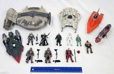 Star Wars Hasbro 3 3/4 Expanded Universe Lot of 5 Ships & 9 Figures Outrider