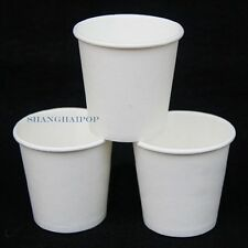 100 X Mini Disposable Paper Sample Cup Food Ice Cream Catering Party White 2.5oz