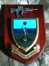 Royal Corps of Signals Military Wall Plaque+ Pewter SA80