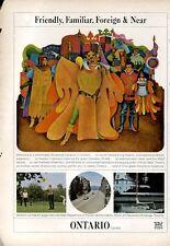 1966 Ontario Canada Tourism Living Theatre PRINT AD