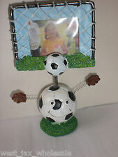"Boys Small Sports Picture Frame Soccer Ball & Goal Frame Decor 5"" Tall Gift New"