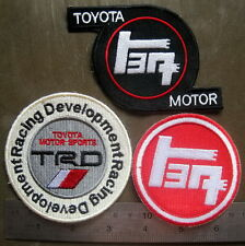 3x TRD EMBROIDERED PATCH sew ON TOYOTA Racing Development Tuning Performance