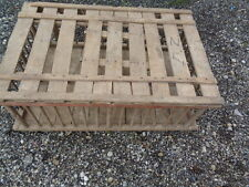 Vtg Primitive CHICKEN CRATE Wood Box wooden cage coop farm old coffee table base
