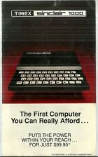 Timex Sinclair 1000 Computer Sales Brochure Booklet