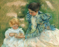 Mary Cassatt Reproductions: Mother Playing with Child - Fine Art Print