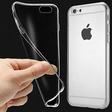 Clear Transparent Back Soft Thin Gel Silicone TPU Case Cover For iPhone 5SE