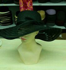 cappello nero elegante cerimonia taglia unica  paglia hat cocktail donna mare xx