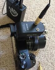 MODIFIED EXTERNAL MICROPHONE Adds Mic INPUT to Sony a6000 -Stereo ECM-XYST1M