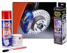 Mercedes Brake Caliper Paint Rotors Drums Pads Shoes RED
