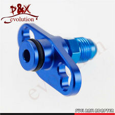 Blue New Fuel Rail Adapter With AN6 Tail For Mitsubishi Evo 1 2 3 ECLIPSE DSM