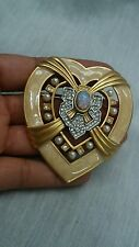 Vtg. Elizabeth Taylor for Avon  heart of Hollywood enamel crystal pin brooch