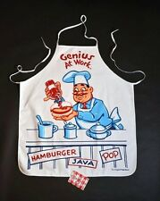 NEW APRON BBQ Foodie CHEF Genius At Work retro family FUN!
