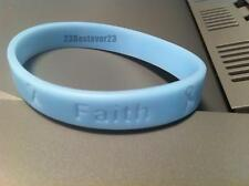 1 Light Blue Prostate Cancer Awareness Silicone ADULT Bracelet Wristband