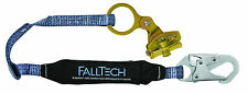 FALLTECH 8358 ROPE GRAB - Hinged Self-Tracking Rope Grab W/ 3' Shock Absorber