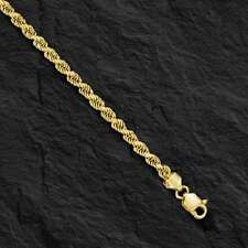 "18KT Solid Gold Diamond Cut Rope Chain Necklace 22"" 3 mm 20 grams (KDC023)"