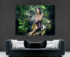 ASIAN GIRL POSTER BEAUTIFUL MOOD UMBRELLA  LARGE WALL ART POSTER PICTURE BIG
