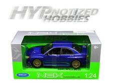 WELLY 1:24 2005 SUBARU IMPREZA WRX STI DIE-CAST BLUE 22487NS-W-BL