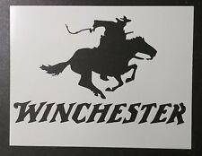 """Winchester Rifle Ammo Horse Cowboy 11"""" x 8.5"""" Stencil FAST FREE SHIPPING"""
