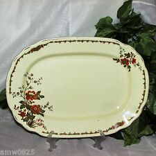 "WEDGWOOD TRENTHAM 14"" SERVING PLATTER 1930's ORANGE FLOWERS ENGLAND VINTAGE"