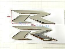 Raised 3D Emblem Chrome RR Suzuki GSXR1000 GSXR750 GSXR600 Bling Silver Decal
