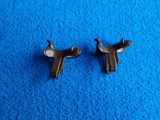 Playmobil 2 x silla caballo marron  oeste saddle brown  western brauner Sattel