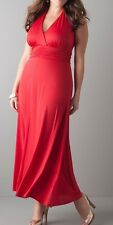 SEVEN7 HALTER MAXI DRESS - RED - PLUS SIZE 18/20