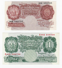 1948 Bank of England 10/- and £1 - BYB refs: BE26 & BE52  *EF*