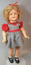 Sharp Vintage 18 inch Shirley Temple Composition Doll By IDEAL--c. 1930s