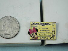DISNEY PIN MAJIC KINGDOM TICKET TO ENCHANTED TIKI BIRDS WITH MINNIE MOUSE