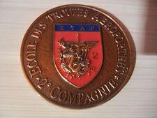 PARAS     ETAP     2°COMPAGNIE       BMA, médaille de table en bronze et résine