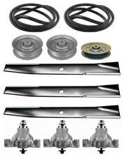 """Sears Craftsman GT3000 46"""" Mower Deck Rebuild Kit Spindles Blades Belt Idlers"""