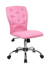 Princess Pink Soft Microfiber Sparkle Bling Home Office Desk Dorm Computer Chair