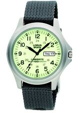 Military Lumibrite Dial Day-Date Grey Nylon Strap Gents Watch RXF41AX7 - NEW!!