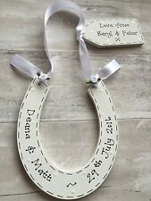 PERSONALISED Lucky Horseshoe ~ Bride Wedding Keepsake Present ~ FREE Gift Tag