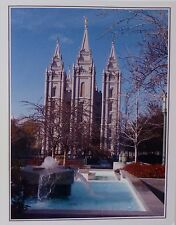 Note Cards Featuring L.D.S. Temple with Water Feature Salt Lake City High Gloss