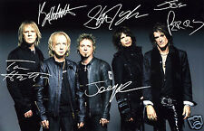 AEROSMITH ENTIRE GROUP AUTOGRAPH SIGNED PP PHOTO POSTER