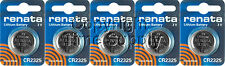 5 pc 2325 Renata Lithium Watch Batteries FREE SHIP Expire 08/2022