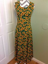 Beautiful Fashioned by June! New Cotton Sleeveless Scoop Neck Maxi Dress ~Sz.S