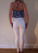Worn Once Pure White Topshop High Waist Skinny Stretch JONI Jeans UK 8 W26 L32