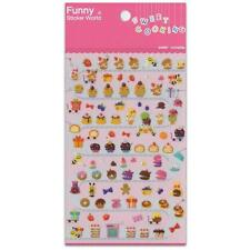 CUTE PASTRY STICKERS Sweet Cooking Dessert Food Sticker Sheet Craft Scrapbook