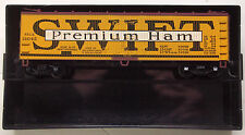 HO Train Miniature Swift Premium Ham 40' Wood Reefer Car KD's RTR