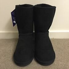 New Chic Empire Classic Short UGG Black Size Ladies 7 Australian Made