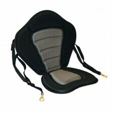 DELUXE KAYAK SEAT Padded Back Rest Comfy Chair Straps Hooks Canoe Adjustable